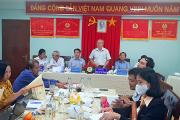 Đoàn phúc tra của Sở Y tế và Bệnh viện ĐKTT An Giang làm việc tại bệnh viện đa khoa khu vực tỉnh an giang
