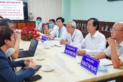 Bệnh viện ĐKKV tỉnh An Giang chào mừng đoàn công tác đến thăm và làm việc