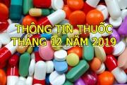 THÔNG TIN THUỐC THÁNG 12 NĂM 2019